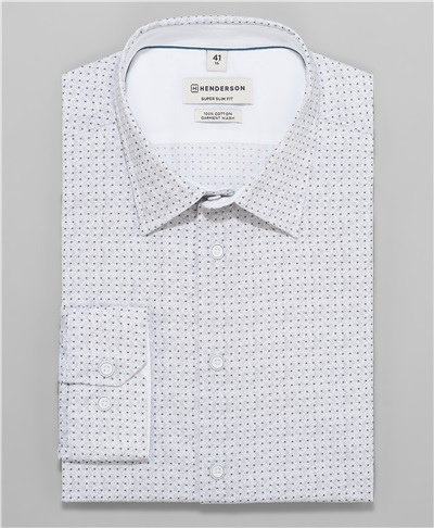 df51090baebc3 фото рубашки прилегающего силуэта HENDERSON, цвет серый, SHL-1407 GREY ...