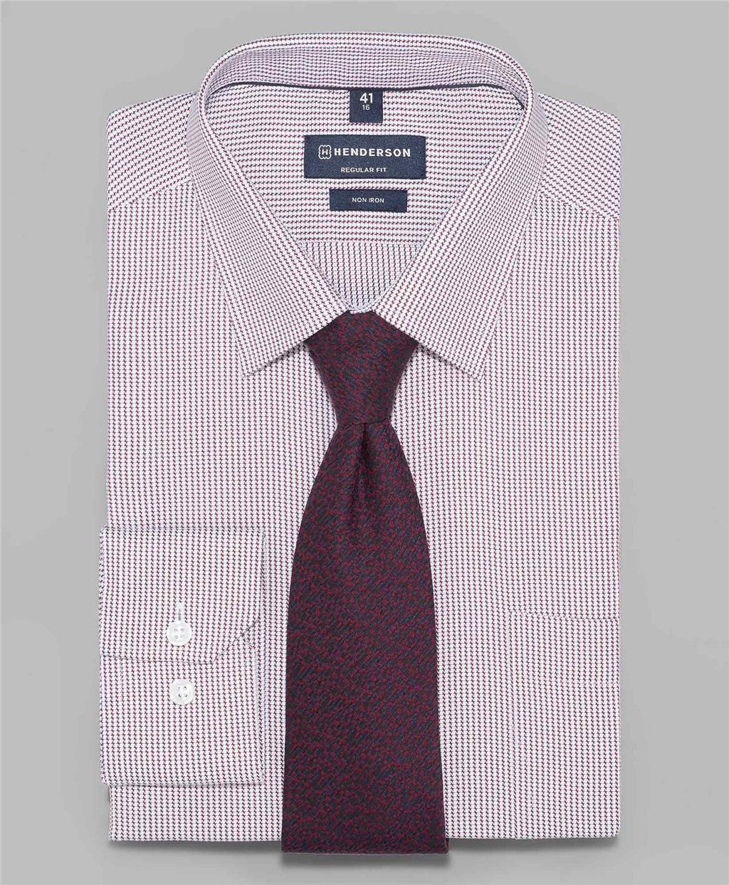 Рубашка прямой силуэт HENDERSON SHL-1447-N BORDO фото