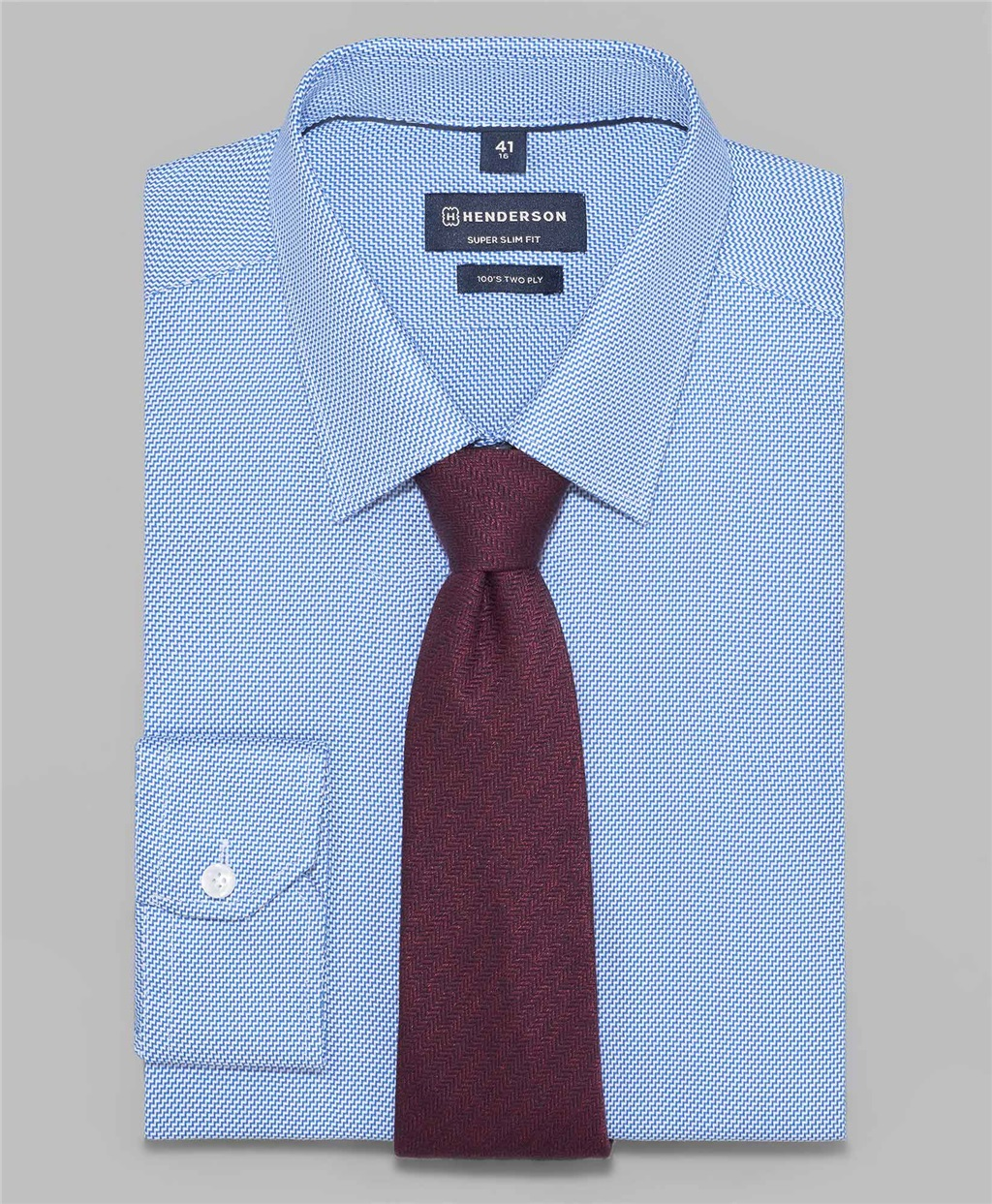 Рубашка прилегающий силуэт HENDERSON SHL-1449 BLUE фото