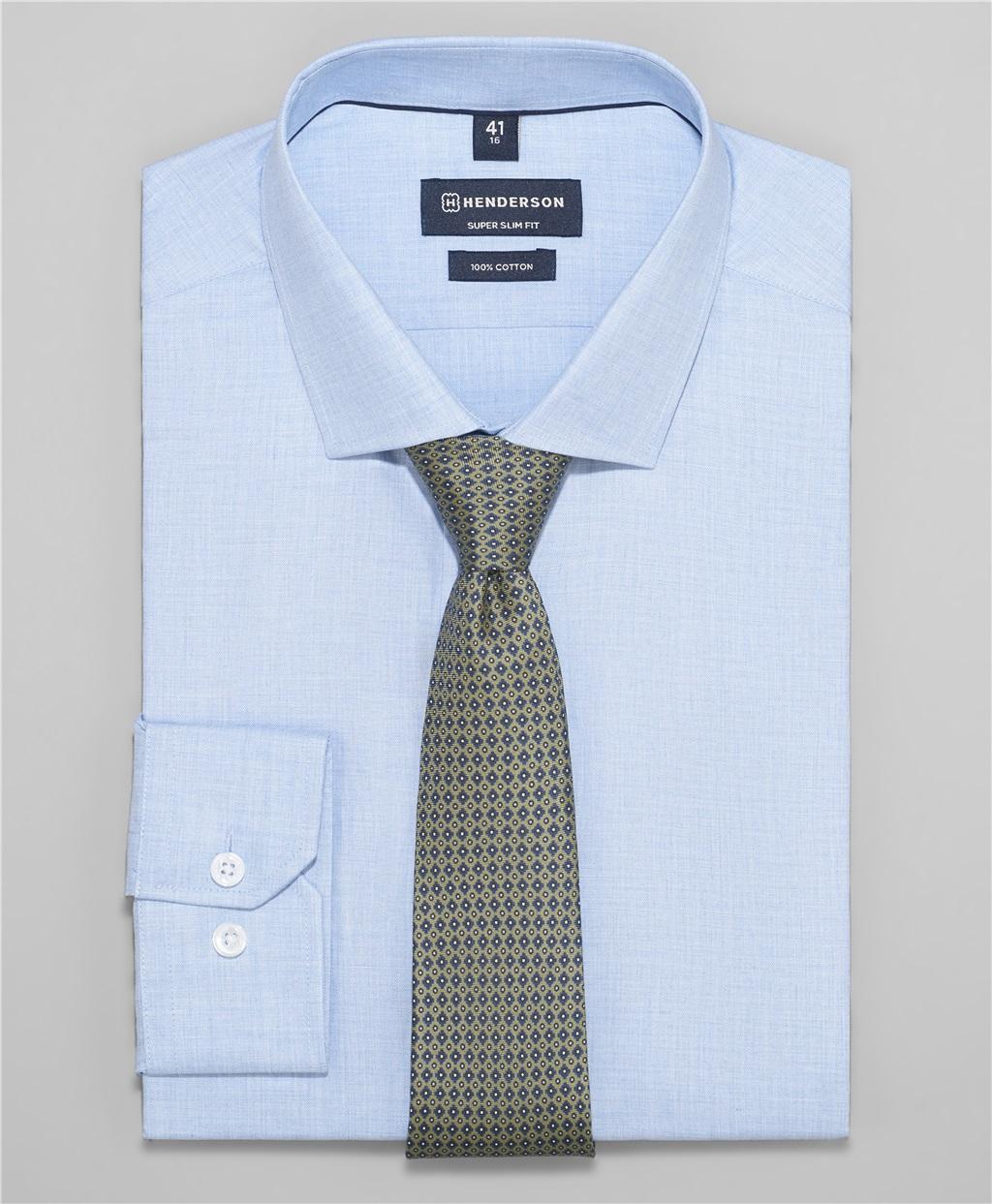 Рубашка прилегающий силуэт HENDERSON SHL-1452 BLUE фото