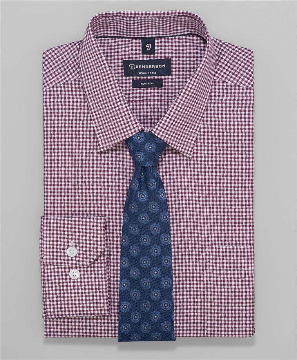 Рубашка прямой силуэт HENDERSON SHL-1454 BORDO фото