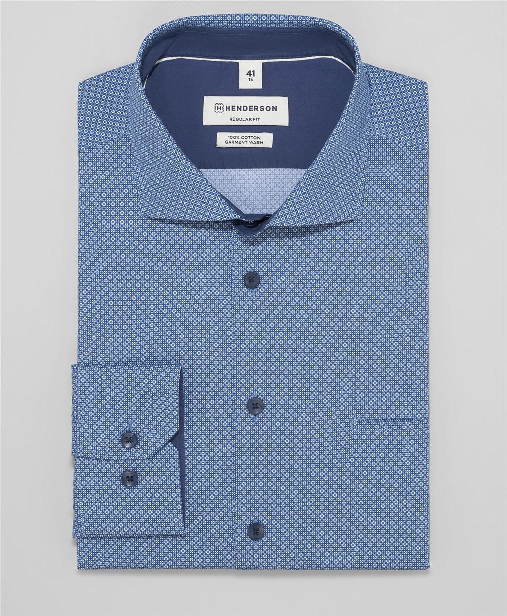 Рубашка прямой силуэт HENDERSON SHL-1478 NAVY фото