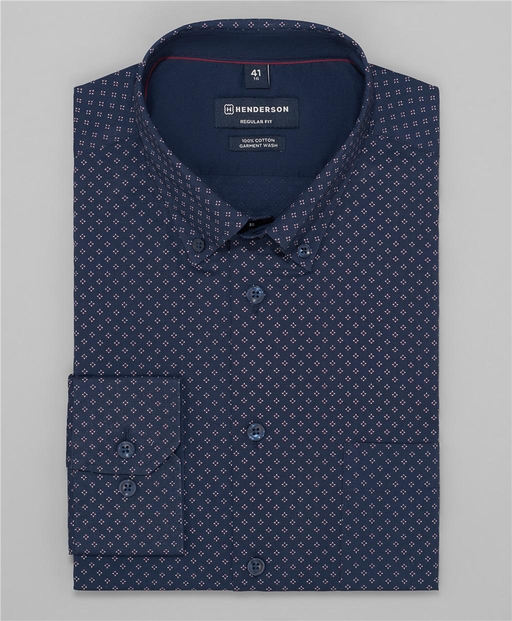 Рубашка прямой силуэт HENDERSON SHL-1480 DNAVY фото