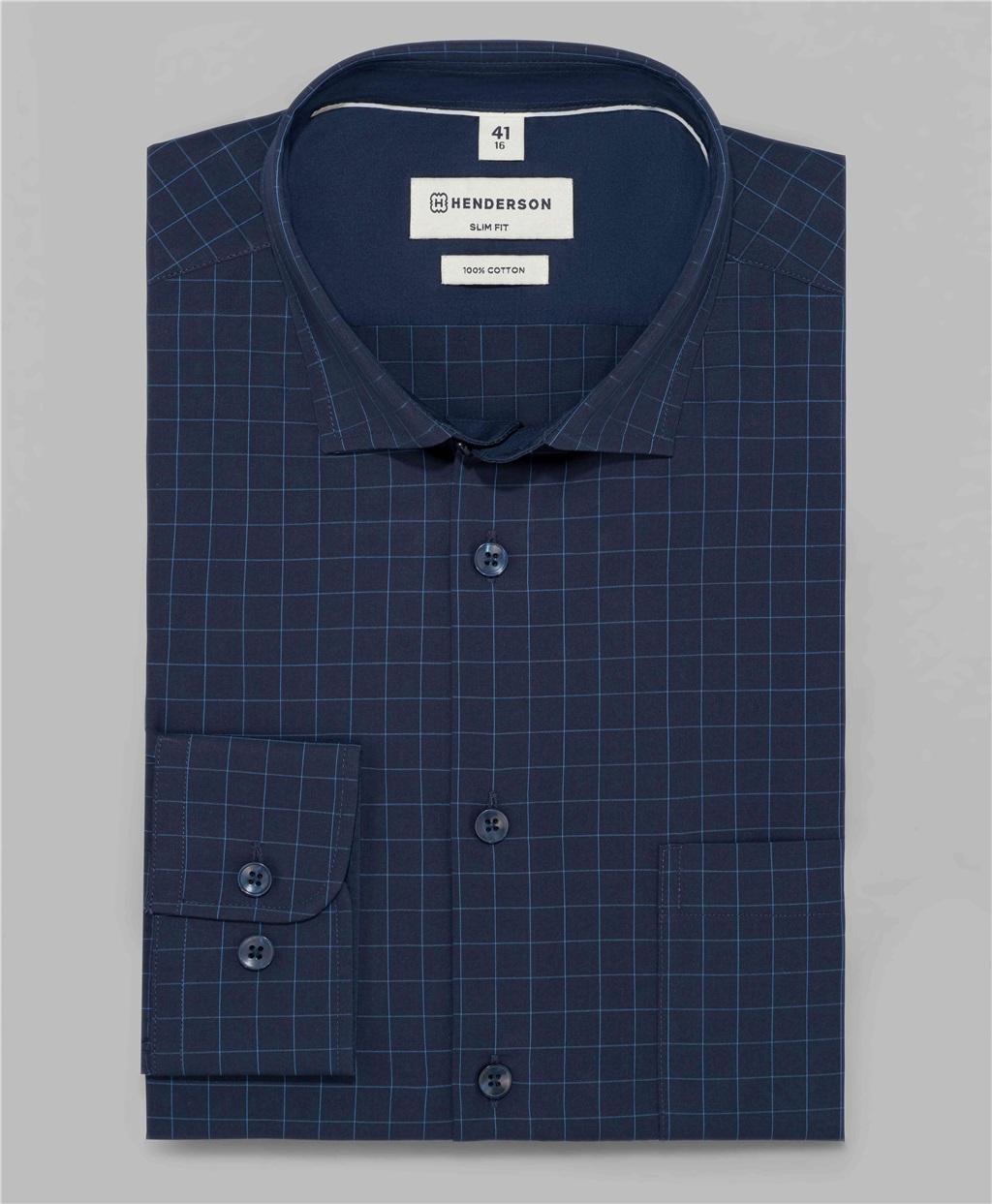 Рубашка полуприлегающий силуэт HENDERSON SHL-1481 DNAVY фото