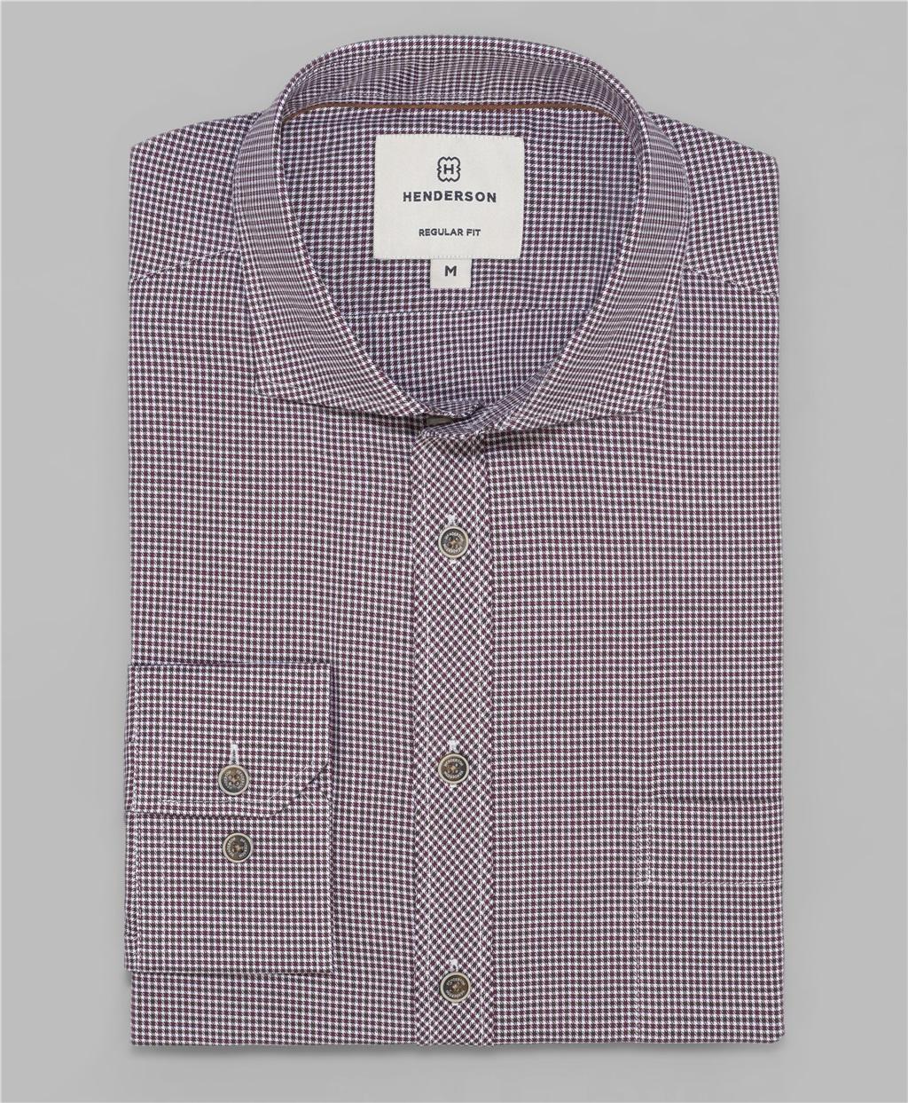 Рубашка прямой силуэт HENDERSON SHL-1497 BORDO фото