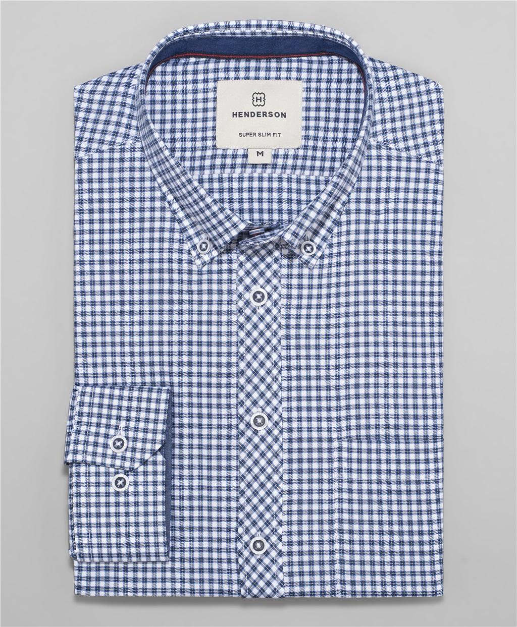 Рубашка прилегающий силуэт HENDERSON SHL-1498 BLUE фото