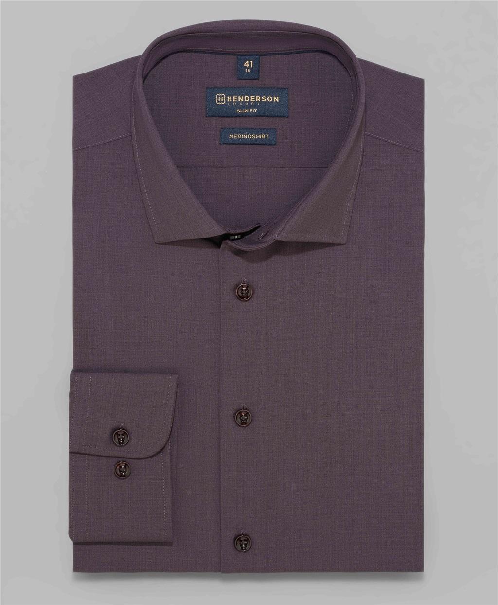 Рубашка полуприлегающий силуэт HENDERSON SHL-1540 BORDO фото