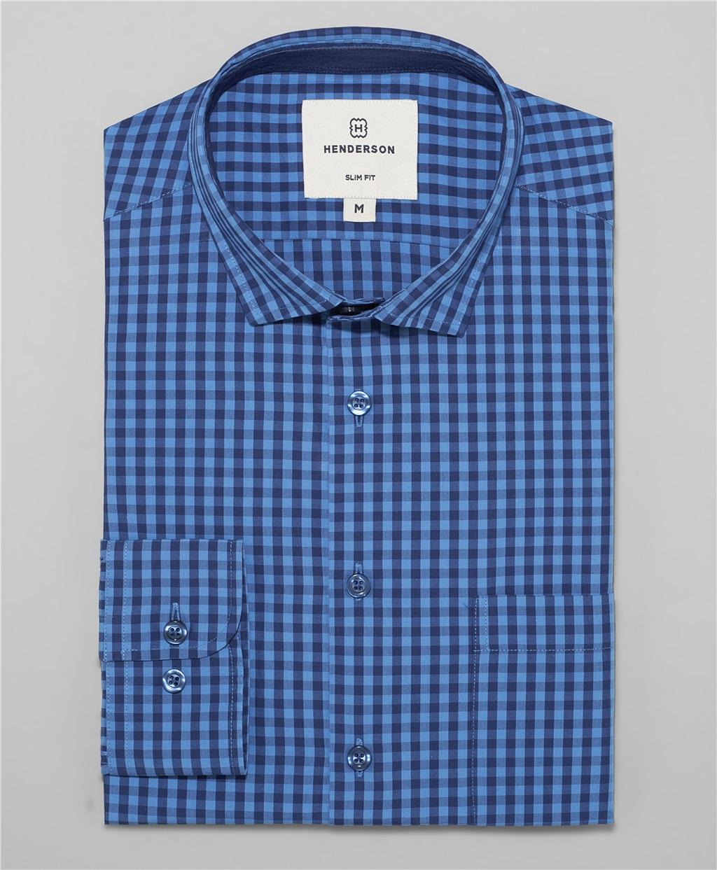 Рубашка полуприлегающий силуэт HENDERSON SHL-1556 NAVY фото