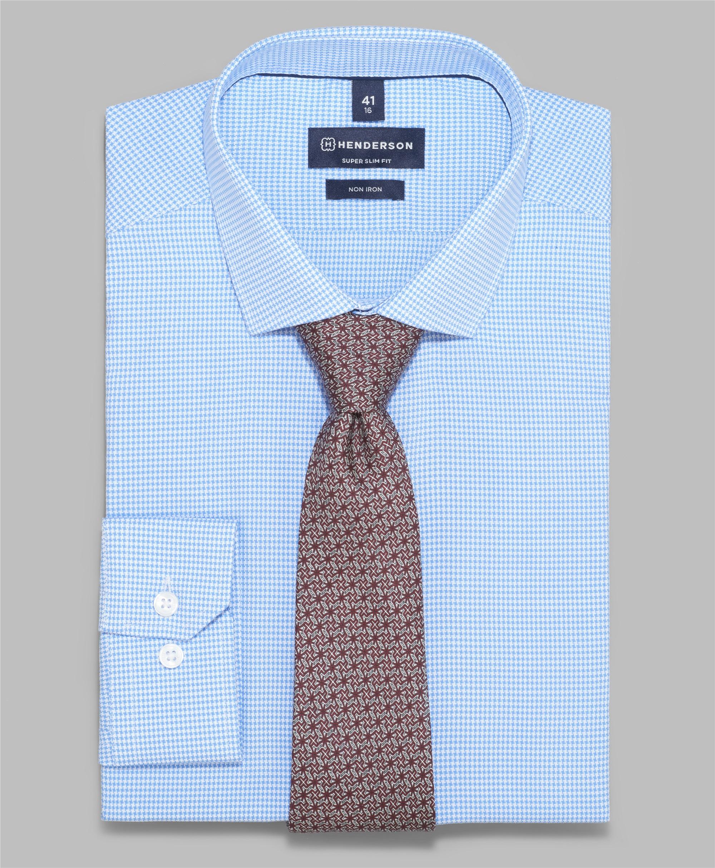 Рубашка прилегающий силуэт HENDERSON SHL-1566-X BLUE фото