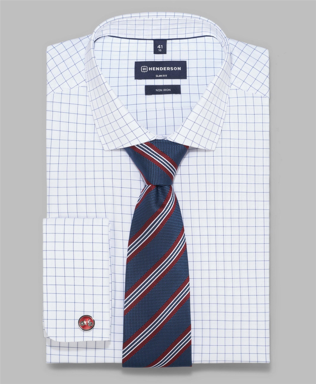 Рубашка полуприлегающий силуэт HENDERSON SHL-1567-S WHITE фото