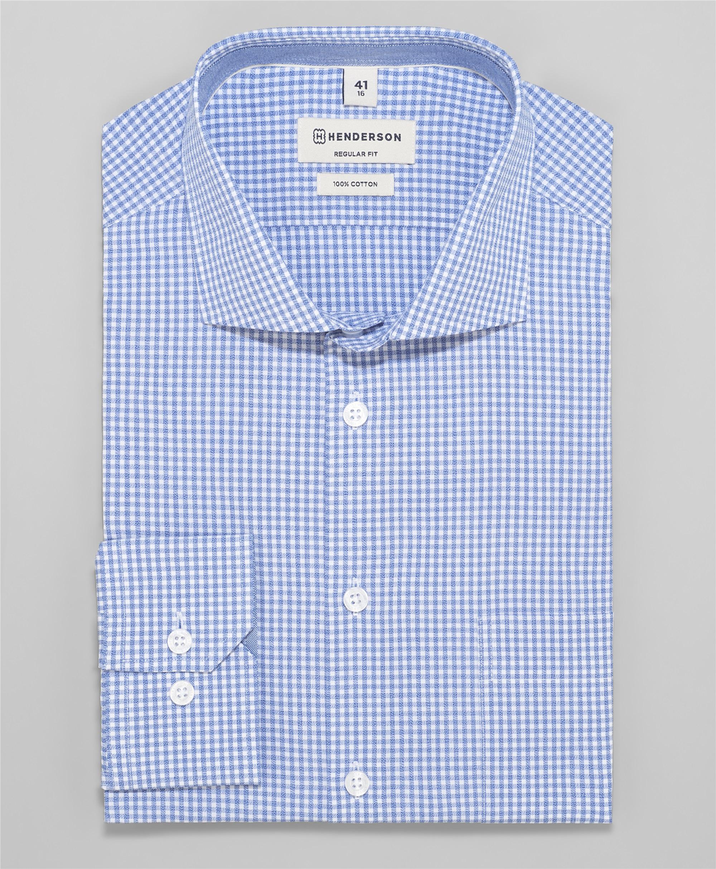 Рубашка прямой силуэт HENDERSON SHL-1584 BLUE фото