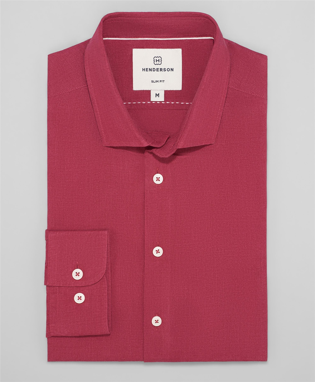 Рубашка полуприлегающий силуэт HENDERSON SHL-1595 RED фото