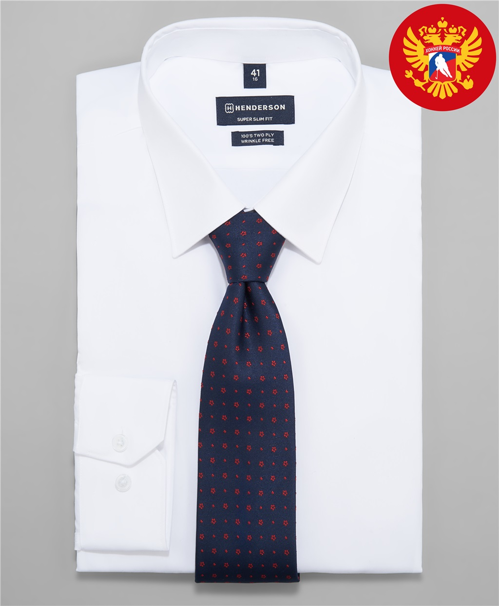 Рубашка прилегающий силуэт HENDERSON SHL-2053-X WHITE фото
