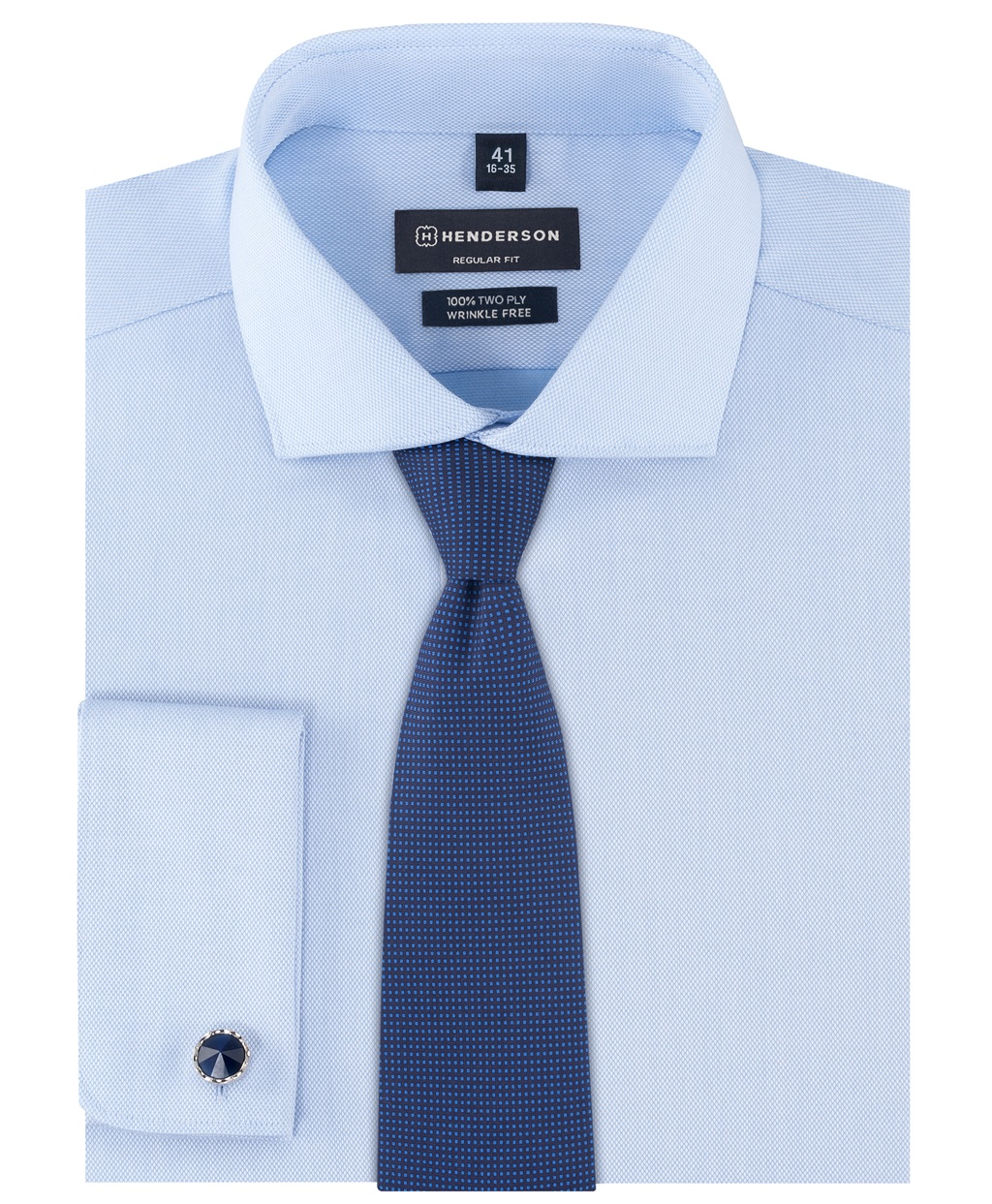 Рубашка прямой силуэт HENDERSON SHL-2426-ND BLUE фото