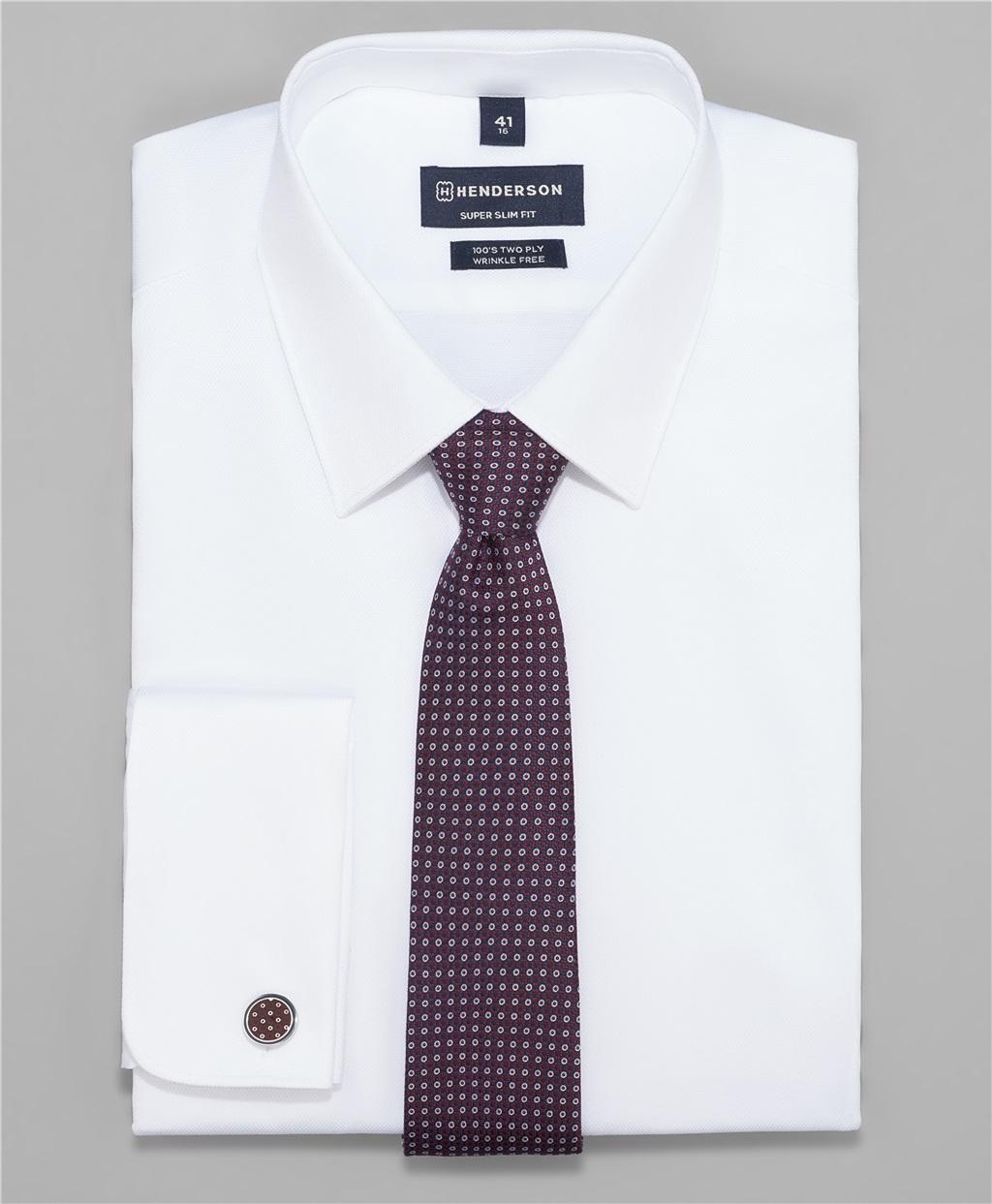 Рубашка прилегающий силуэт HENDERSON SHL-2426-XD WHITE фото