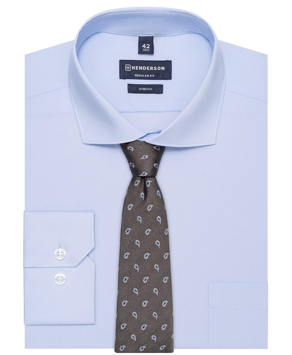 Рубашка прямой силуэт HENDERSON SHL-2843-N BLUE фото