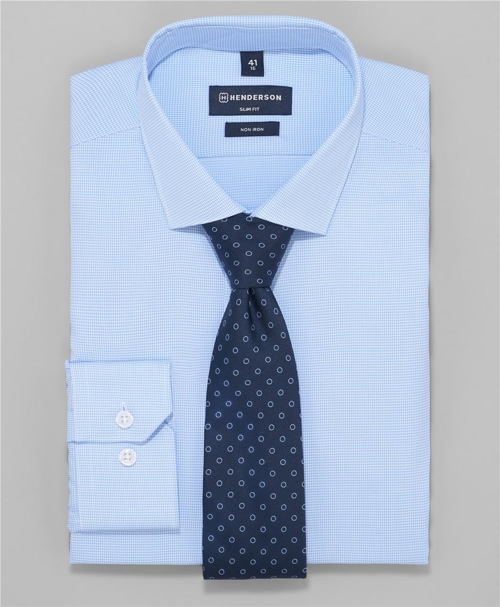 Рубашка полуприлегающий силуэт HENDERSON SHL-2950-S BLUE фото