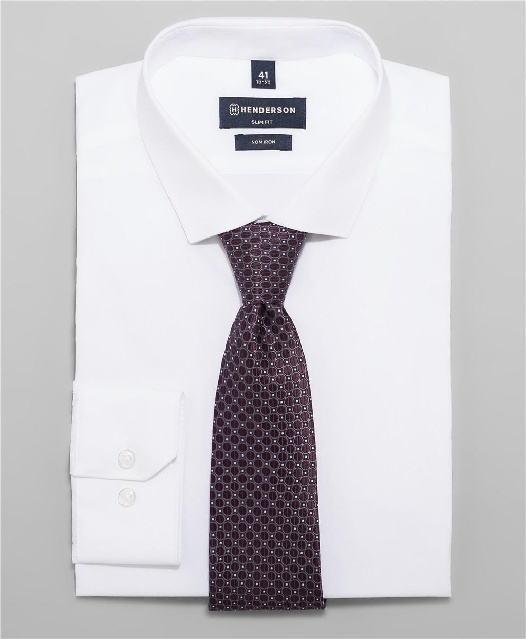 Рубашка полуприлегающий силуэт HENDERSON SHL-2985-SL WHITE фото