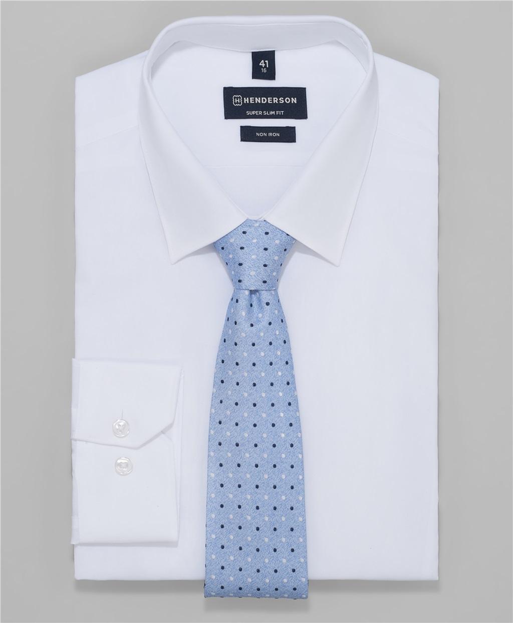 Рубашка прилегающий силуэт HENDERSON SHL-2985-X WHITE фото
