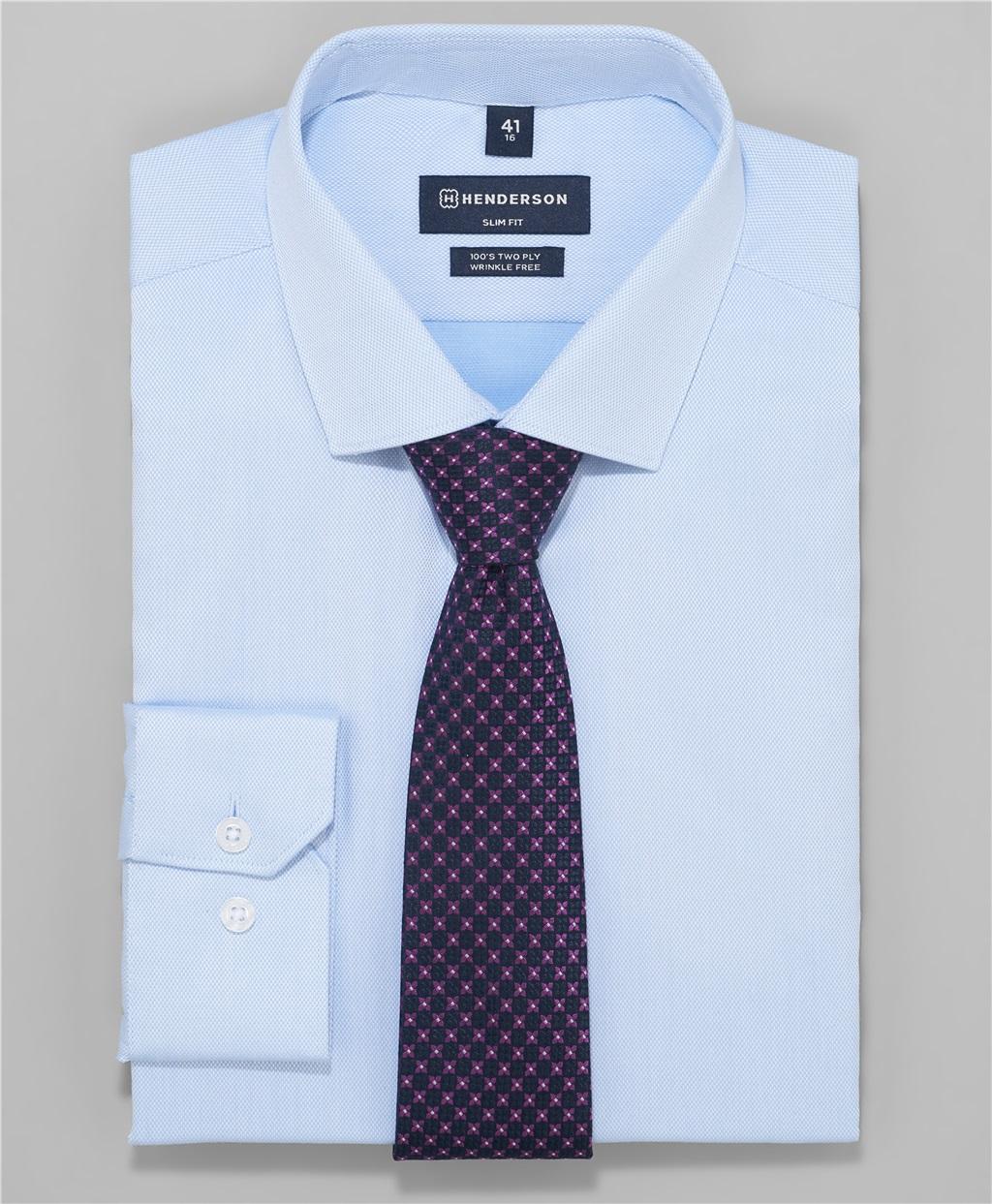 Рубашка полуприлегающий силуэт HENDERSON SHL-3426-S BLUE фото
