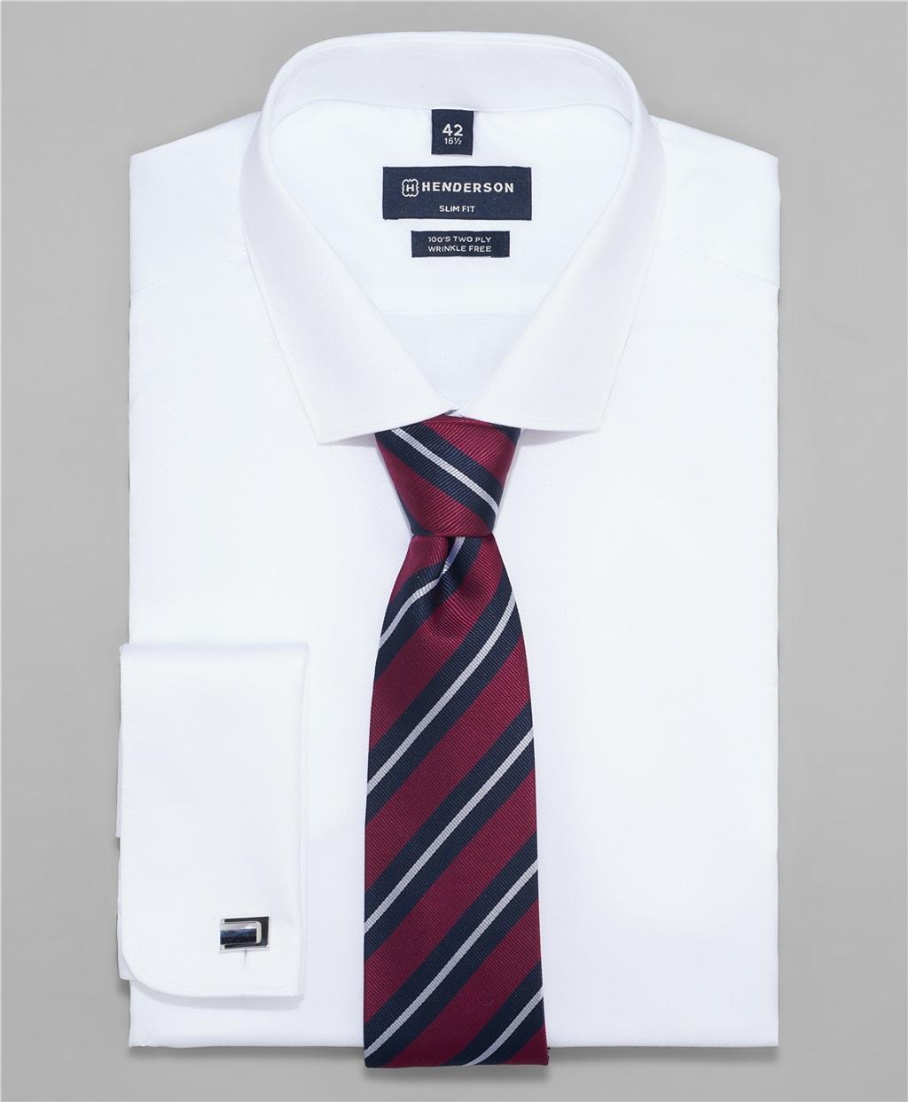 Рубашка полуприлегающий силуэт HENDERSON SHL-3426-SD WHITE фото