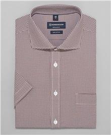 3d1c363c586fbc7 фото рубашки прямого силуэта HENDERSON, цвет коричневый, SHS-0431 BROWN