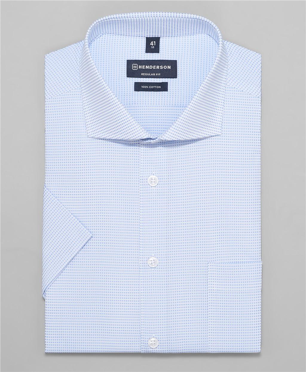 Рубашка прямой силуэт HENDERSON SHS-0452 BLUE фото
