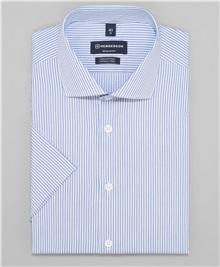 0a4f2fa8b5f13c8 фото рубашки прямого силуэта HENDERSON, цвет голубой, SHS-0472 BLUE