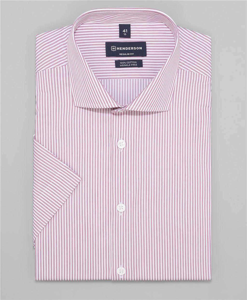 Рубашка прямой силуэт HENDERSON SHS-0472 BORDO фото