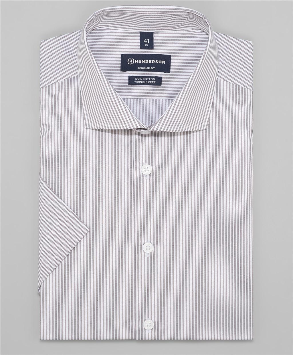 Рубашка прямой силуэт HENDERSON SHS-0472 BROWN фото