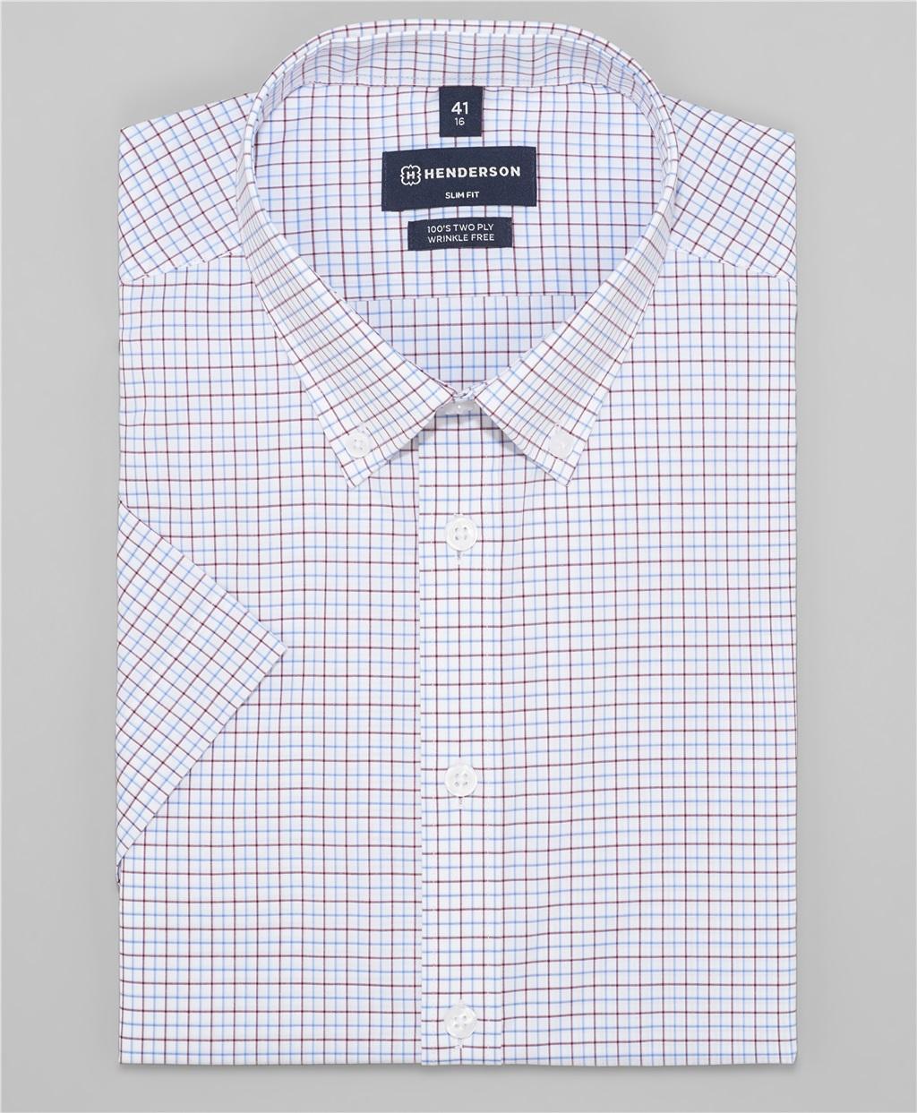 Рубашка полуприлегающий силуэт HENDERSON SHS-0474 BORDO фото