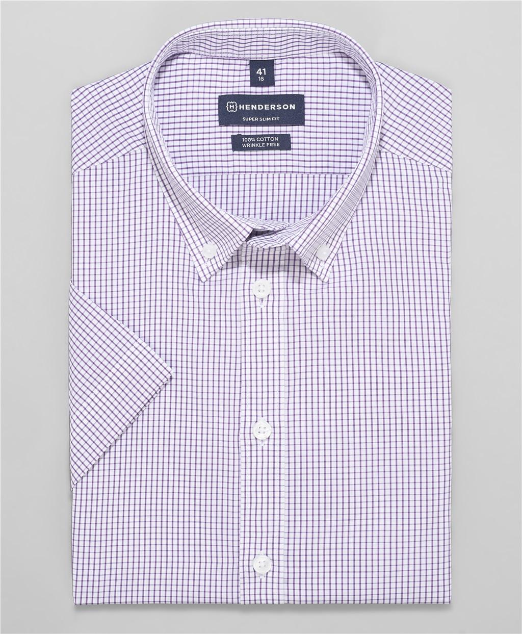 Рубашка прилегающий силуэт HENDERSON SHS-0476 LILAC фото