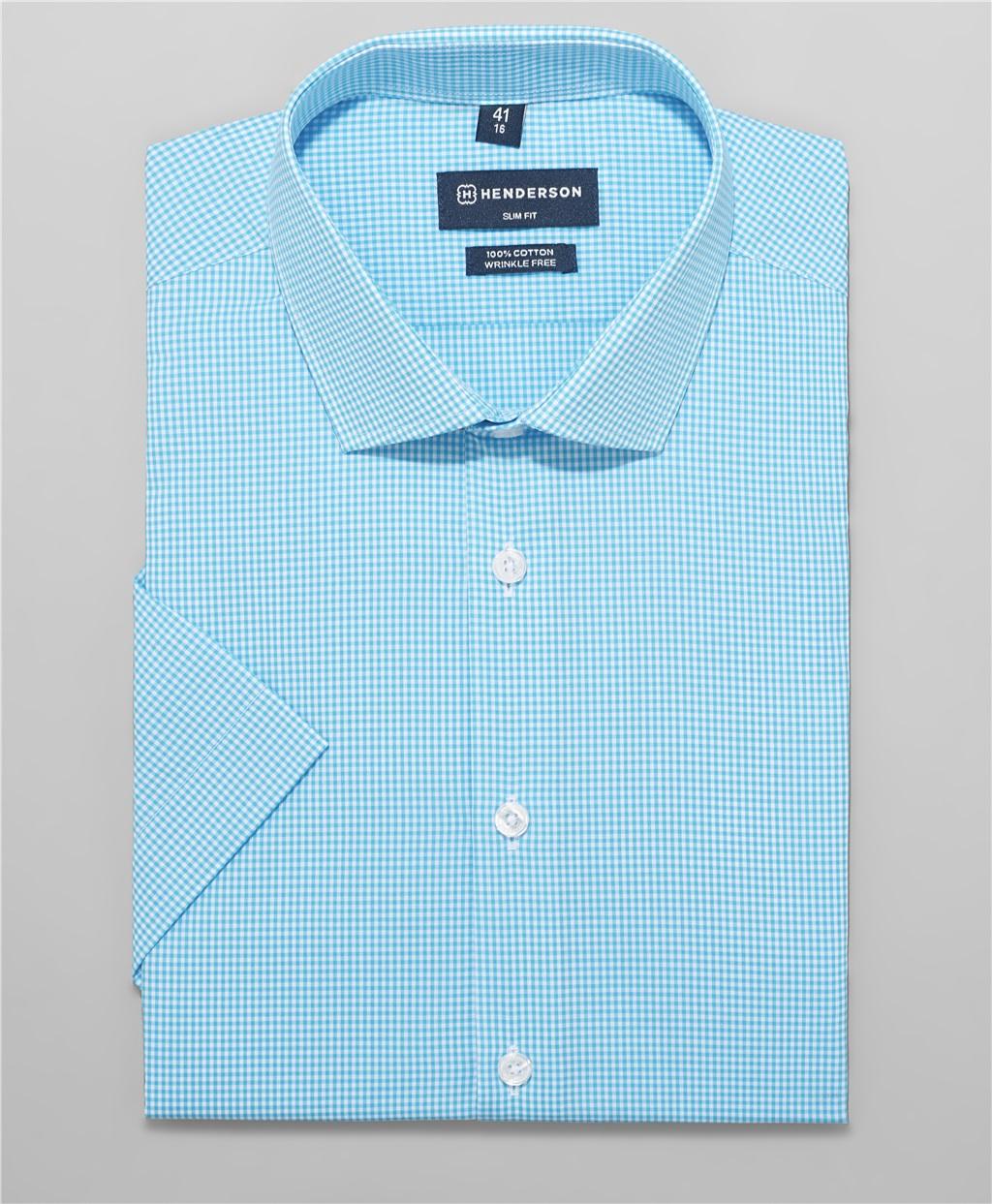 Рубашка полуприлегающий силуэт HENDERSON SHS-0483 BLUE фото