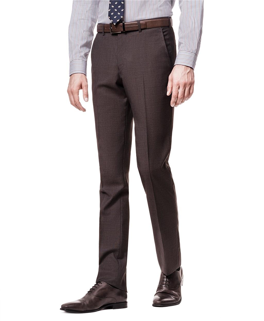 Костюмные брюки HENDERSON TR1-0108_S BROWN фото