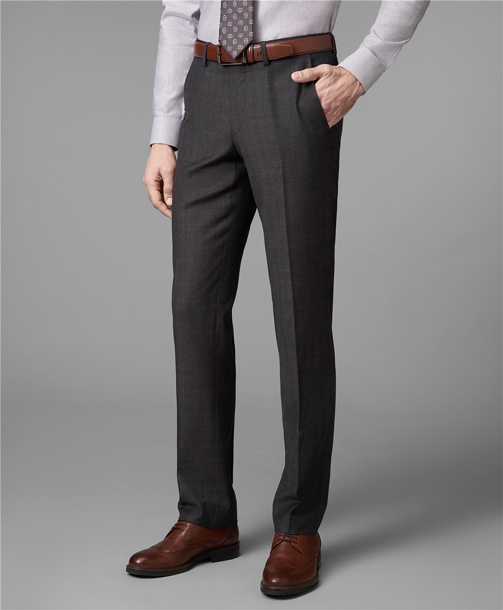 Костюмные брюки HENDERSON TR1-0148-N BROWN фото