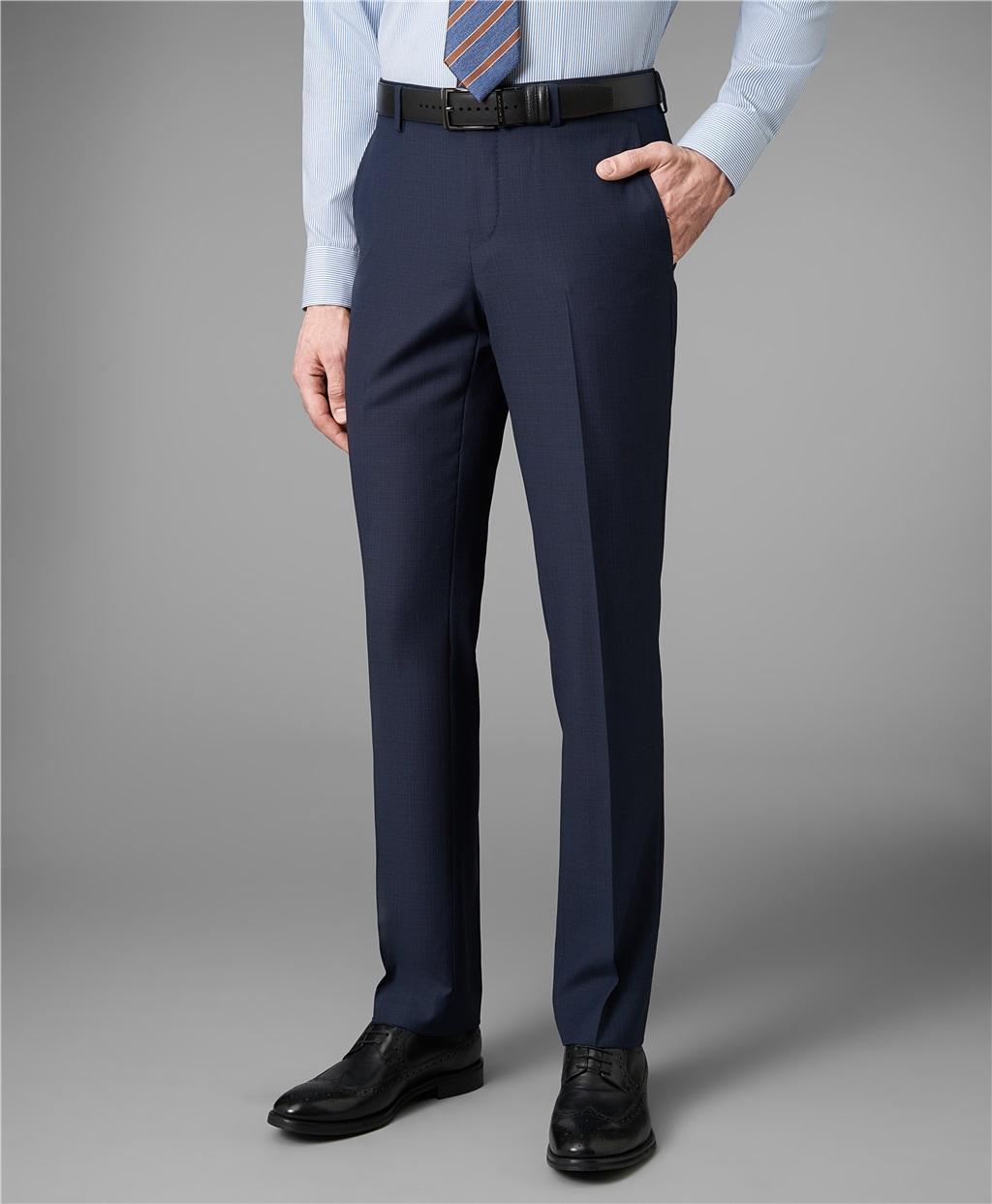 Костюмные брюки HENDERSON TR1-0153-N NAVY фото