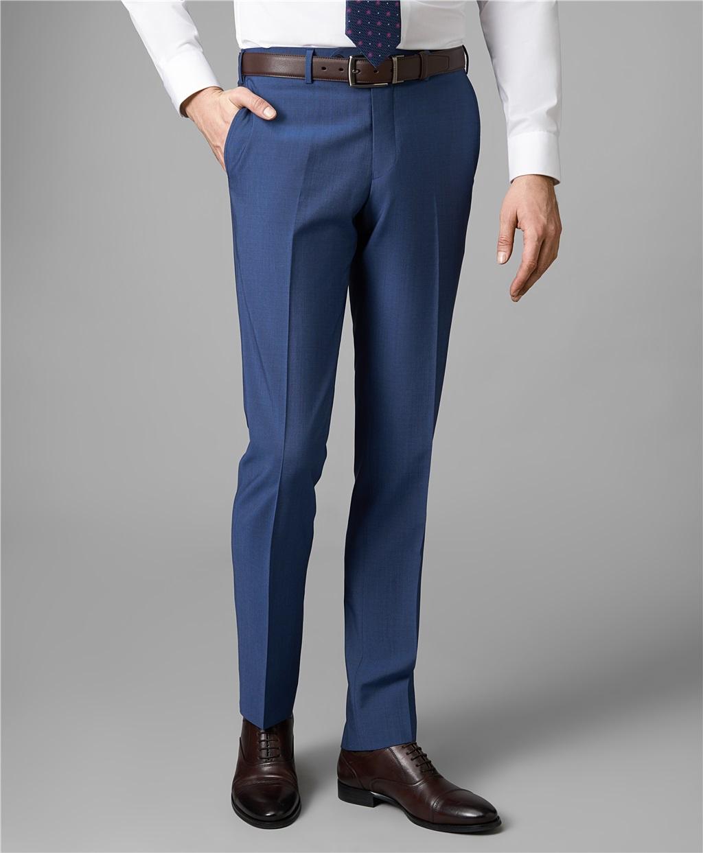 Костюмные брюки HENDERSON TR1-0156-N DBLUE фото