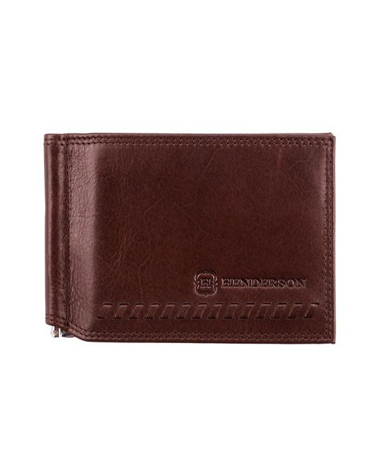 65632be3713 Зажим для денег HENDERSON в коричневом цвете WT-0176 BROWN- купить в ...